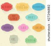 days of week stickers   Shutterstock .eps vector #427246882