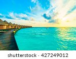 beautiful tropical maldives... | Shutterstock . vector #427249012