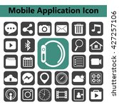 smart phone app icon set.vector ... | Shutterstock .eps vector #427257106