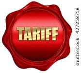 tariff  3d rendering  a red wax ...