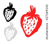 strawberry icon vector set.... | Shutterstock .eps vector #427269142