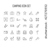 camping icons.  backpack  axe ... | Shutterstock .eps vector #427270552