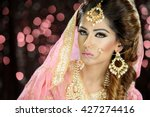 portrait of a beautiful female... | Shutterstock . vector #427274416