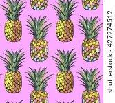 seamless pineapples | Shutterstock . vector #427274512