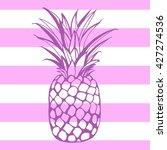 pineapples. tropical summer... | Shutterstock . vector #427274536
