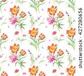summertime seamless watercolor... | Shutterstock . vector #427280656