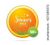 summer sale label | Shutterstock .eps vector #427285372