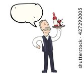 freehand drawn speech bubble... | Shutterstock .eps vector #427292005