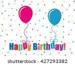 birthday background with... | Shutterstock .eps vector #427293382