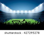 excited crowd of people at a... | Shutterstock .eps vector #427295278