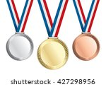 gold  silver and bronze medals. ... | Shutterstock .eps vector #427298956