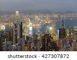 Hong Kong Skyline And Victoria...