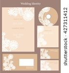 wedding  invitation set  with... | Shutterstock .eps vector #427311412