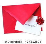 thank you card or letter ... | Shutterstock . vector #427312576