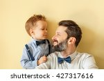 happy father with son  | Shutterstock . vector #427317616