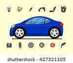 infographic template with car... | Shutterstock .eps vector #427321105