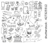 big hand drawn sketch elements... | Shutterstock .eps vector #427325512