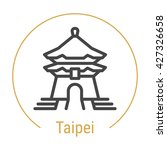 taipei  china  line icon with... | Shutterstock .eps vector #427326658