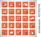 seo services icon set | Shutterstock .eps vector #427332742