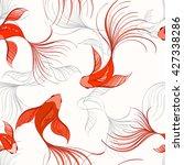 koi seamless pattern can be... | Shutterstock .eps vector #427338286