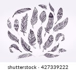 rustic ethnic decorative... | Shutterstock .eps vector #427339222