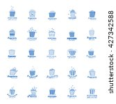 popcorn icons set   isolated on ...   Shutterstock .eps vector #427342588