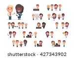 business people vector set | Shutterstock .eps vector #427343902