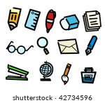 stationery | Shutterstock .eps vector #42734596