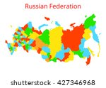 russian federation map. vector... | Shutterstock .eps vector #427346968