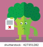 broccoli holding checklist with ... | Shutterstock .eps vector #427351282