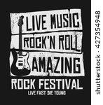 hand drawn rock festival poster.... | Shutterstock .eps vector #427354948