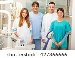group of  dentists standing in... | Shutterstock . vector #427366666