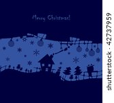 abstract christmas background | Shutterstock .eps vector #42737959