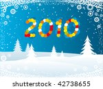 happy new year 2010 | Shutterstock .eps vector #42738655