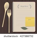 recipes cookbook. cooking...   Shutterstock .eps vector #427388752