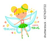 Little Fairy With Magic Wand...