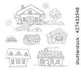 doodle set of outline hand...   Shutterstock .eps vector #427433548