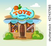 facade of toy store. vector... | Shutterstock .eps vector #427437085