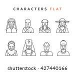 people character set of ... | Shutterstock .eps vector #427440166