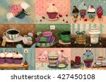 sweet set which consists of... | Shutterstock . vector #427450108
