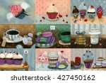 sweet set which consists of... | Shutterstock . vector #427450162