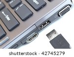 modern hi end carbon laptop...   Shutterstock . vector #42745279
