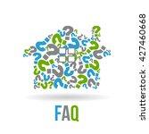 real estate house  faqs logo....   Shutterstock .eps vector #427460668