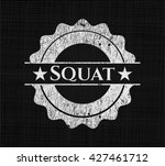 squat written on a chalkboard | Shutterstock .eps vector #427461712