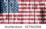 Flag Of The Usa Painted Onto A...