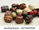 luxury belgium chocolate... | Shutterstock . vector #427465936
