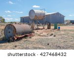 elevated fuel tank  rusted... | Shutterstock . vector #427468432