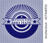 between love and hate emblem... | Shutterstock .eps vector #427468552