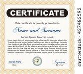 orange certificate template.... | Shutterstock .eps vector #427482592