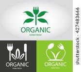 organic fresh vector   logo... | Shutterstock .eps vector #427483666
